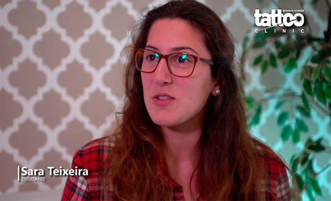 Remoção de Tatuagens -  Testemunho Sara Teixeira
